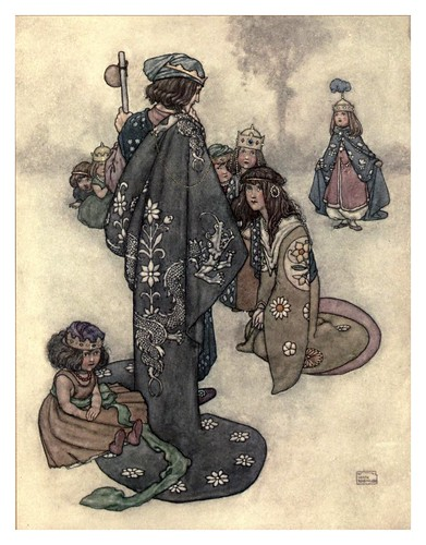018-La princesa real-Hans Andersen's fairy tales (1913)- William Heath Robinson