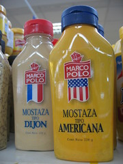American mustard with American flag