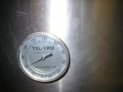 Magnolia's Brewpub Thermometer Close Up in Basement