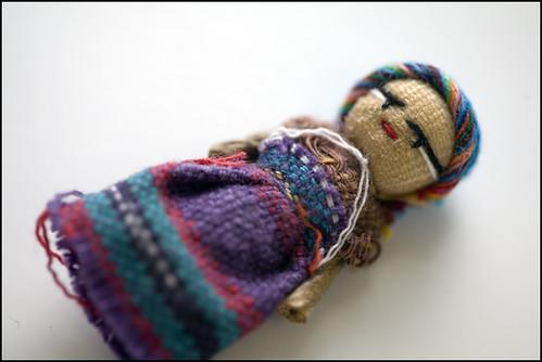 Guatemalan worry doll -- wish I had an army of them