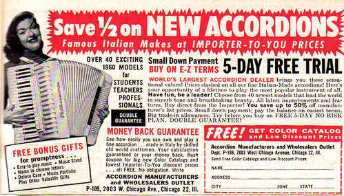Vintage Ad #259: Cheap New Accordians