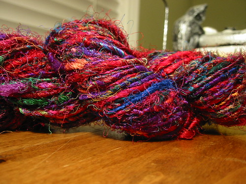 blue sari yarn