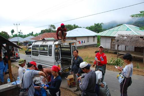 Start trekking at Sembalun Lawang village