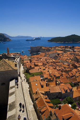 Over the rooftops of Dubrovnik