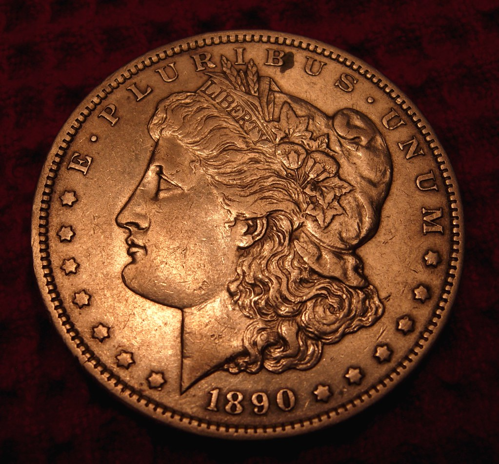 silver dollar, 1890