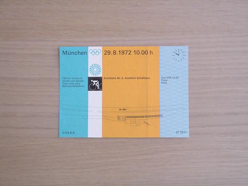 Munchen 72, Cycling Ticket