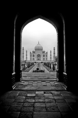 Taj Mahal from a door