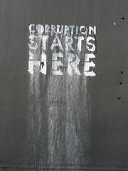 corruption starts here