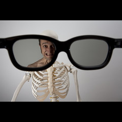 130/365: I see alive people... (Mr. Flibble) Tags: sunglasses skeleton glasses shades xray ribs bones specs ribcage undead seethrough spectacles sixthsense explored idrinkleadpaint