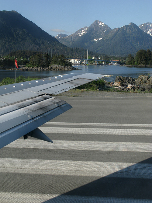 on the runway, Sitka, Alaska