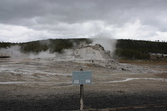 Geyser Trail in Old Faithful Basin