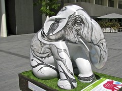 London Elephant Hunter! (anthonyfalla) Tags: charity elephant london art design artwork decoration london parade elephant asian elephant