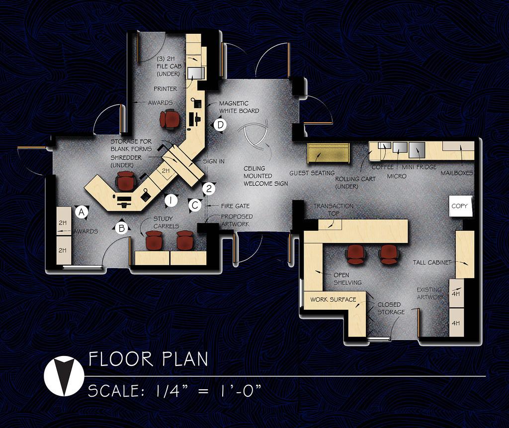 St. Luke Catholic School Office Re-design Floor Plan