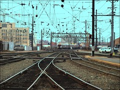Strung Out (Professor Bop) Tags: railroad train washingtondc tracks rail signals amtrak wires electricity unionstation nec catenary northeastcorridor drjazz olympuse510 professorbop