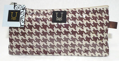 houndstooth vinyl pouch