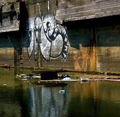 Amsterdam: NDSM (Akbar Sim) Tags: streetart holland reflection netherlands amsterdam graffiti nederland ndsm noord stadsarchief akbarsimonse akbarsim