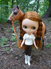 Nella took her horse out