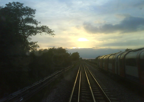 Central line sunset taken by Richard