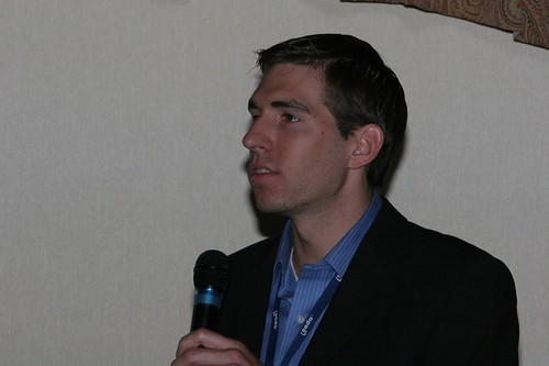 Photo of Matt Bentley taken by Antony van Couvering at the SedoPro 2007 event