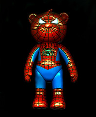 Bearz Spiderman (GALE47) Tags: toys spiderman kitsch trashy mystuff mytoys spiderbear schlocky naughtyteddyevilteddy franchisebrandblahblahadvertising