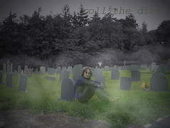 Lennon Ghost` (roll the dice) Tags: uk music london art classic graveyard field liverpool photoshop dead fun death image spirit invisible headstone cemetary ghost band creepy cumbria singer murder beatles writer lennon legend johnlennon fab4 mccartney sixties yokoono heathermills lblcomp041 bandvocals