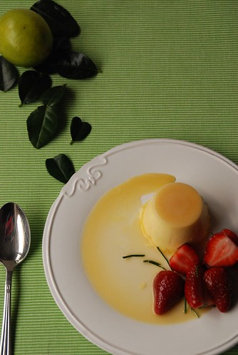 Lime panna cotta (from above)