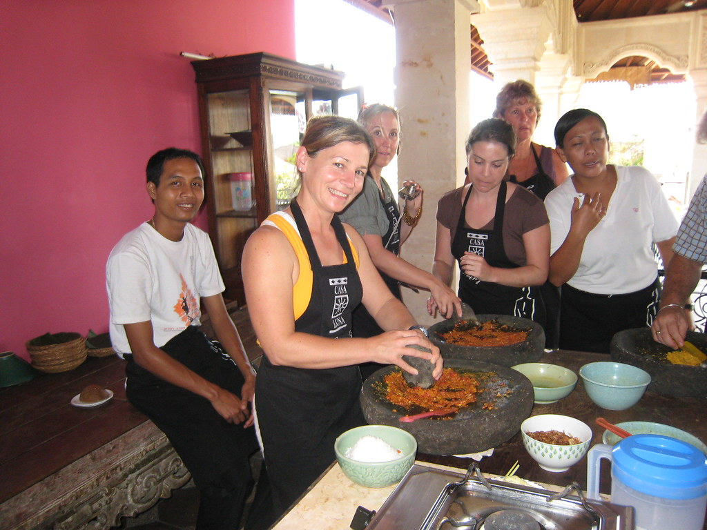 Laura in Balinese Cooking Class