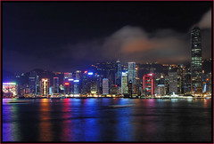 Hong Kong at night - City of Lights (scott.brooks) Tags: china city longexposure travel urban motion reflection water ferry night skyscraper hongkong lights harbor asia downtown neon cityscape harbour central vivid ritzcarlton lightshow bankofchinatower tamar admiralty urbanlandscape critique pacificplace cityoflights bankofamericatower hsbcbuilding cheungkongcentre mandarinorientalhotel jardinehouse explored aigbuilding mywinners oneifc photofaceoffwinner photofaceoff a3b d40kitlens24mm13secf11 pfogold perfectescapes explored26
