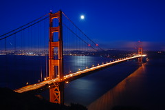 Golden Gate, by Moonlight [3] (Tyler Westcott) Tags: sanfrancisco california gate marin explore batteryspencer gategolden nightlong nikond40 exposuregolden bridgemoonfull moonmoonlit