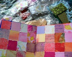 Book in progress (Windy Angels) Tags: paper book board papers quilting torn wips windyangels