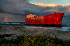 Pasha Bulker Nobbys Beach 21.6.2007 (Black Diamond Images) Tags: sunset storm clouds newcastle boat rainbow ship sunsets australia nightsky salvage stranded shipwrecked nobbysbeach bulka coalcarrier bulker pasher pashabulker lauritzenbulkers pasherbulker pashabulka blackdiamondimagescollection