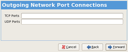 outgoing network connections screenshot