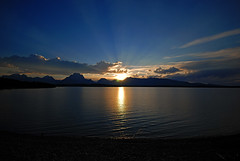 Sunset Over Jackson Lake, Grand Teton - 1 - by my hovercraft is full of eels