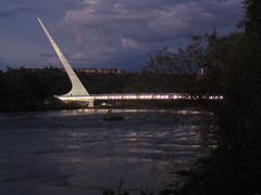 Sundial Bridge at Turtle Bay 2 (tgstewart1) Tags: california bridge sunset northerncalifornia sundial calatrava santiagocalatrava sacramentoriver pedestrianbridge turtlebay reddingca sundialbridge suspensionbridges turtlebaysundialbridge sundialbridgeatturtlebay