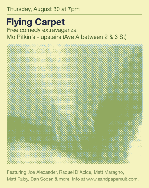 Flying Carpet on Aug 30