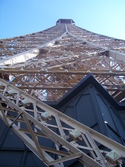 The top of the Eiffel Tower