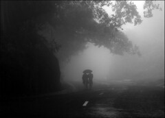 - (Nirjhor Nandonik) Tags: life morning bw cloud mist rain misty fog highway walk explore unknown ctg bangladesh towards khagrachori alutila nirjhornandonik filisteenkhan