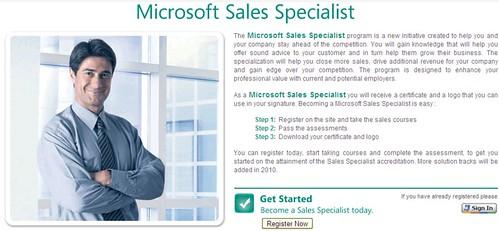 microsoft sales certification