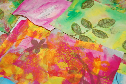 Fabric pieces painted (Photo by iHanna - Hanna Andersson)