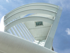 looking up (cyberchrome) Tags: panorama seascape photoshop hampshire portsmouth spinnakertower gunwharfquays panasonicdmctz3