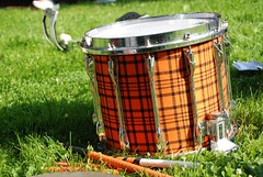 Plaid Drum (Joe Shlabotnik) Tags: sticks drum princeton plaid bang tartan 2010 reunions faved princetonband may2010 heylookatthis reunions2010