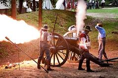 Firepower (Rob Hanson Photography) Tags: photoshop fire nc nikon gun smoke battery boom civilwar cannon reenactment fayetteville earthworks parrott fayettevillenc warbetweenthestates d90 photomatix loudnoise parrottgun robhanson reillysbattery