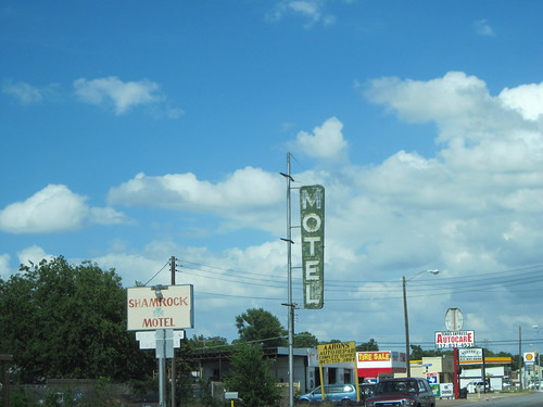 Abandoned Motel Signs, Haltom City Texas by fables98
