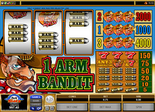 1 Arm Bandit  slot game online review