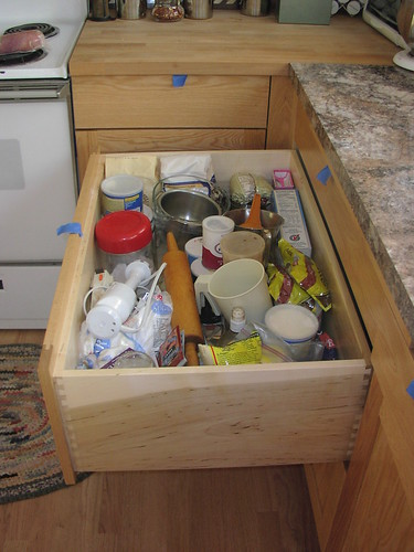 Baking Zone: Middle Drawer under Breadboard
