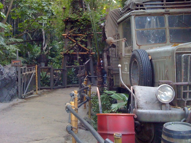 Dude! Just got a behind the scenes tour of the Indiana Jones ride!
