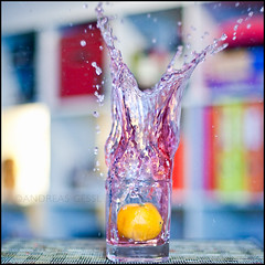 mandarin splash01 (andreas gessl) Tags: color water square focus mess dof tea bokeh depthoffield hibiscus mandarin splash bokehlicious mandarinsplash