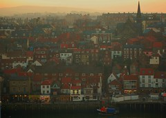 whitby yorkshire coast england (plot19) Tags: uk homes sunset england house church water coast boat seaside nikon harbour bram yorkshire north dracula whitby northern stoker seaport whitestable mywinners plot19