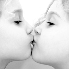a kiss again... (joyrex) Tags: portrait bw love twins kiss kissing sweet twin identicaltwins