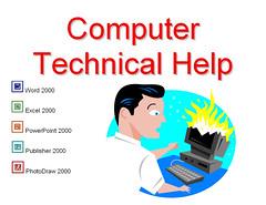 Computer Help Desk sign